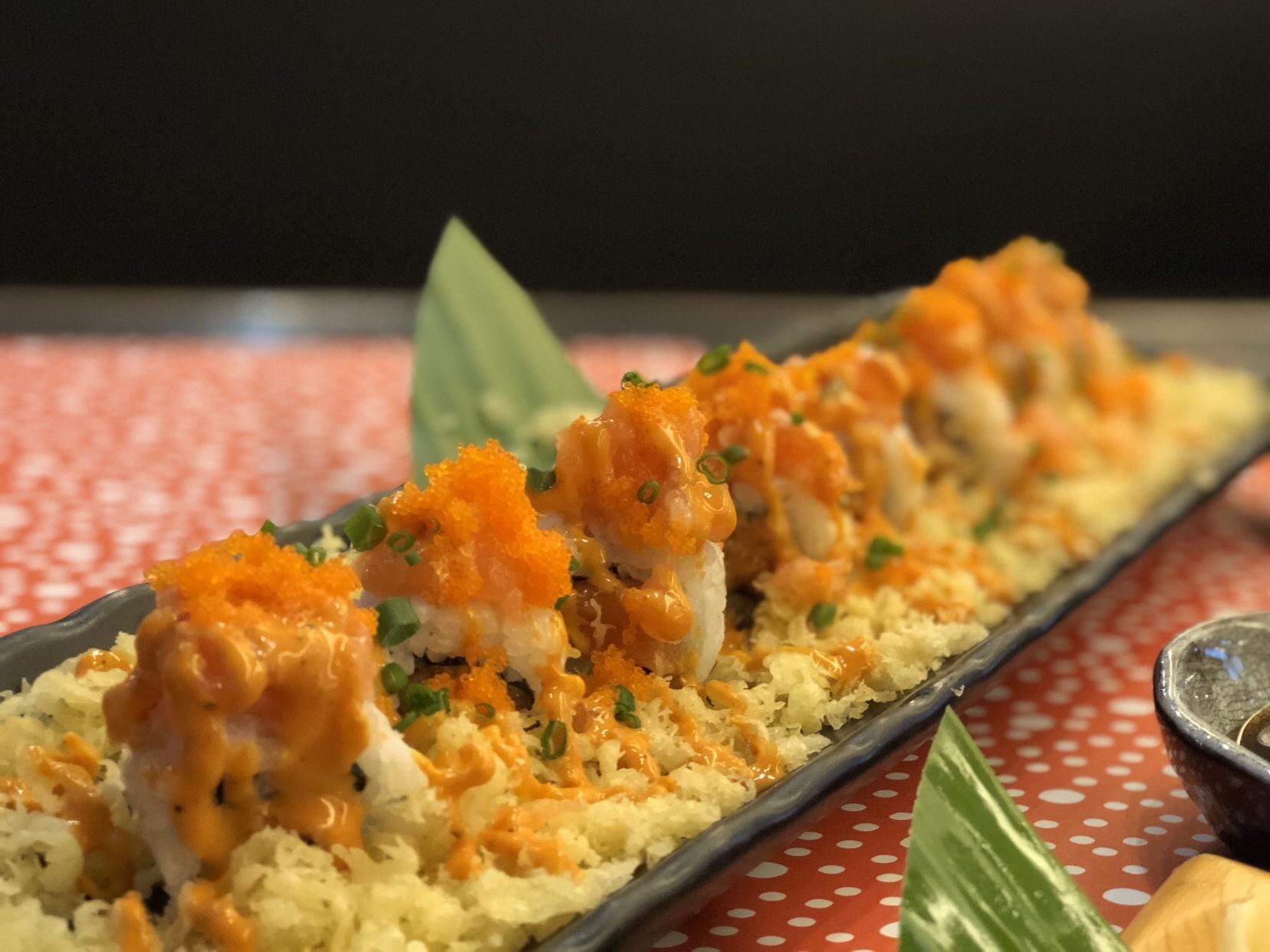 Ebi tempura sushi in Siam Paragon