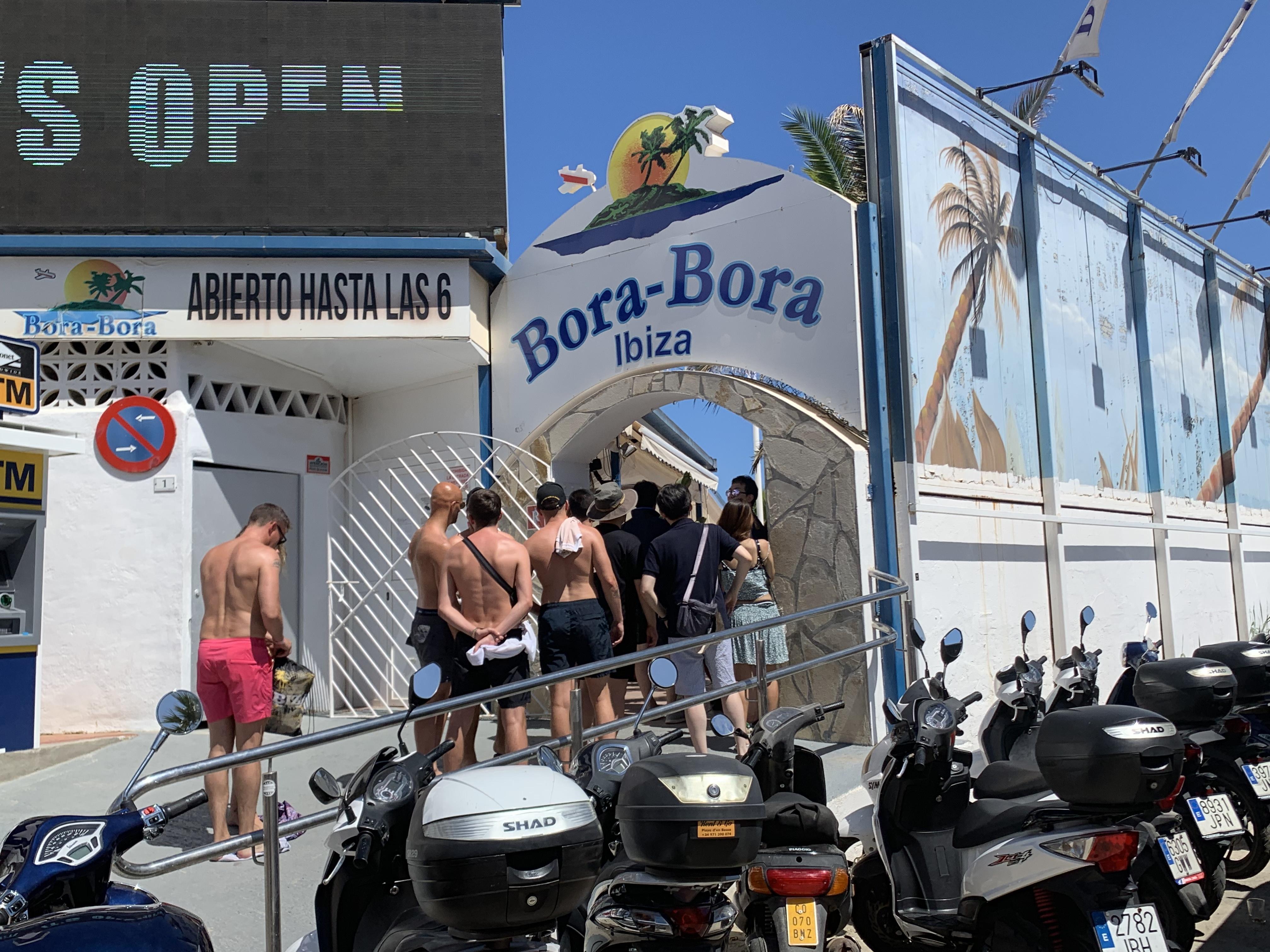 Entrance Bora Bora Beachclub